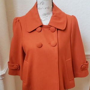 Orange Swing Coat